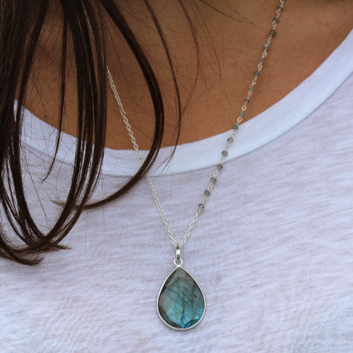 Labradorite Necklace - Margie Edwards Jewelry Designs