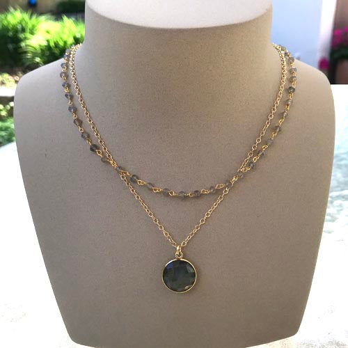 Double Labradorite Necklace - Margie Edwards Jewelry Designs