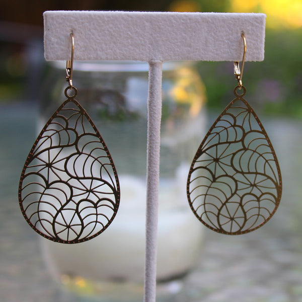 Leaf Gold Earrings - Margie Edwards Jewelry Designs