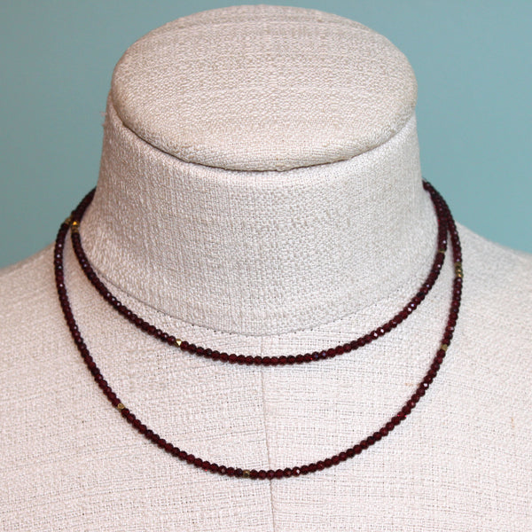Debbie Gold Garnet Necklace
