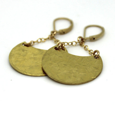 Crescent Moon Earrings - Margie Edwards Jewelry Designs