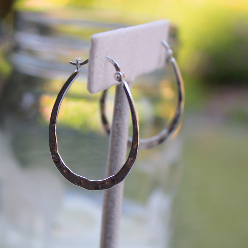 Hammered Hoops - Margie Edwards Jewelry Designs