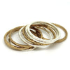 Hammered Stacking Rings - Margie Edwards Jewelry Designs
