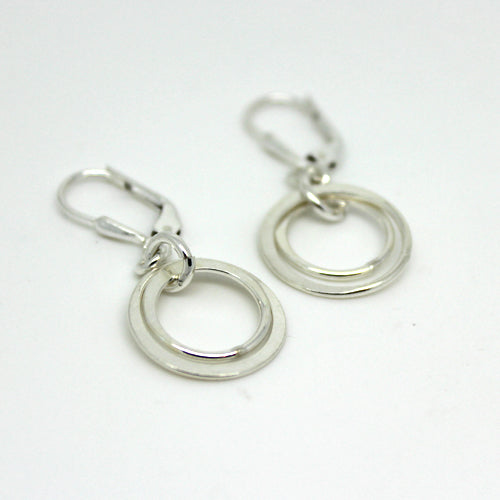 Two Ring Earrings - Margie Edwards Jewelry Designs