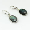 Oval Labradorite Earrings - Margie Edwards Jewelry Designs