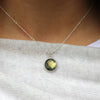 Labradorite Circle Necklace - Margie Edwards Jewelry Designs