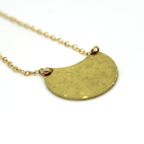 Crescent Moon Necklace - Margie Edwards Jewelry Designs