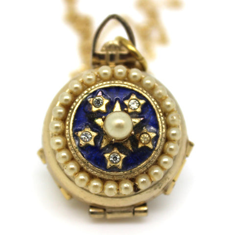 Vintage Blue Star Locket