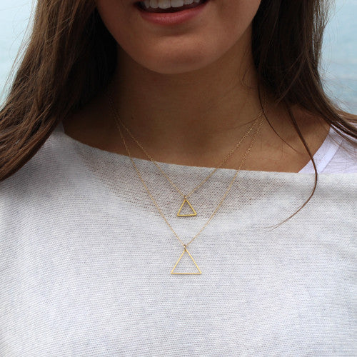 Double Triangle Necklace - Margie Edwards Jewelry Designs