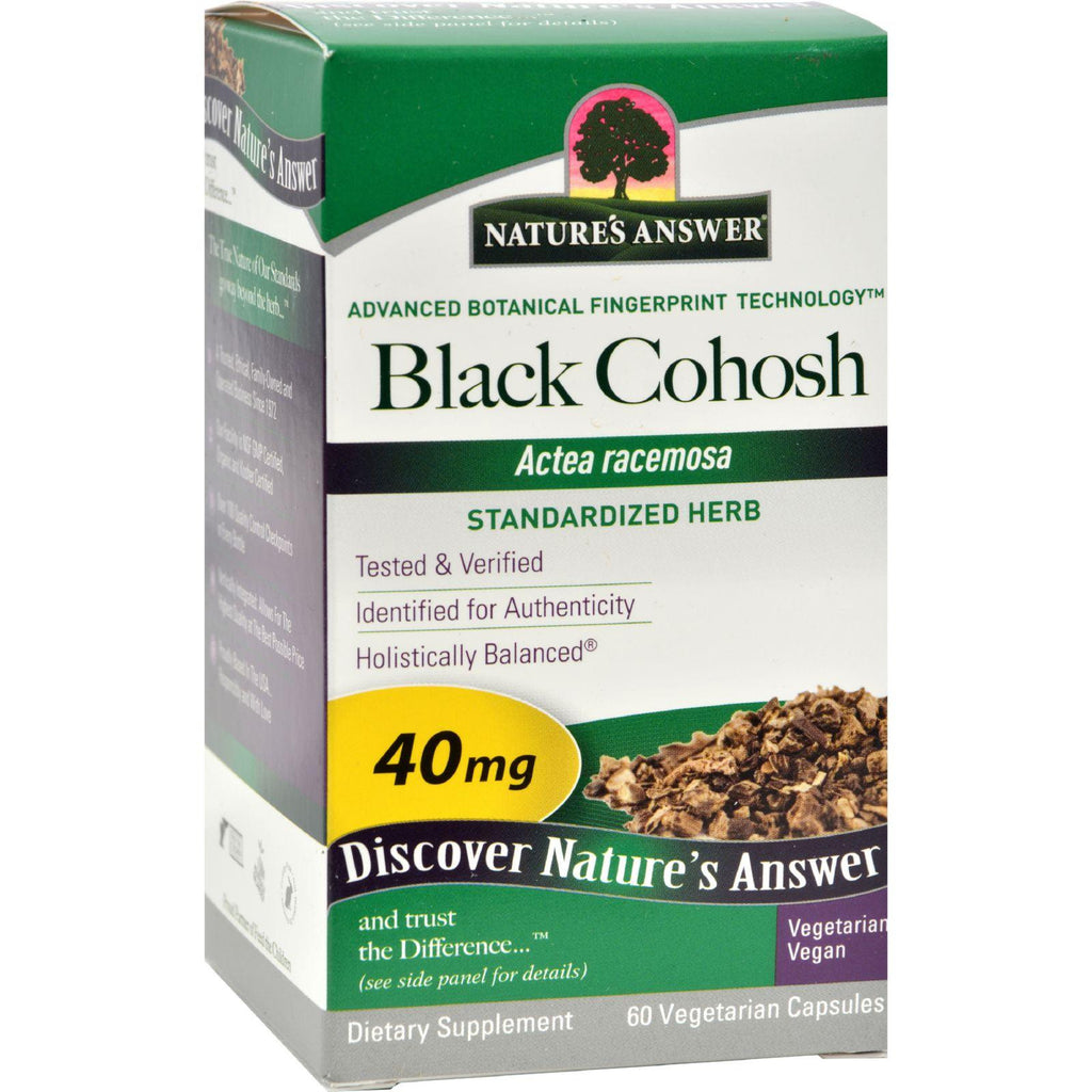 Nature's Answer Black Cohosh Root Extract - 60 Vegetarian Capsules