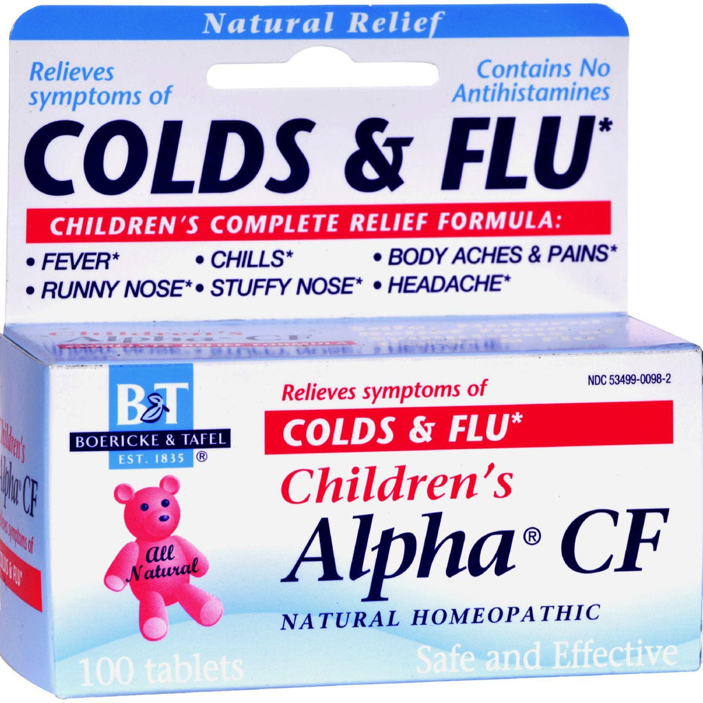 Boericke And Tafel Children's Alpha Cf - 100 Tablets