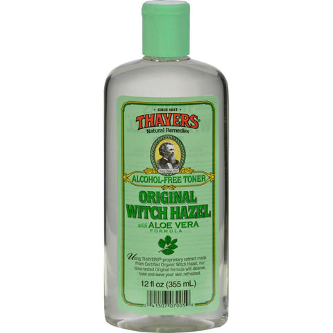 Thayers Witch Hazel With Aloe Vera Original Alcohol Free - 12 Fl Oz