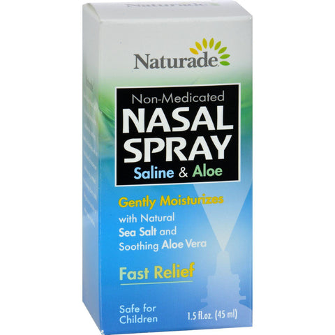 Naturade Nasal Spray Saline And Aloe - 1.5 Fl Oz