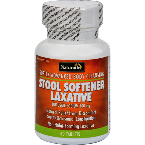 Naturade Softex Stool Softener Laxative - 60 Tablets