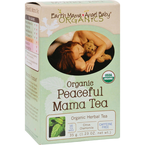 Earth Mama Angel Baby Organic Peaceful Mama Tea - Caffeine Free - 16 Tea Bags