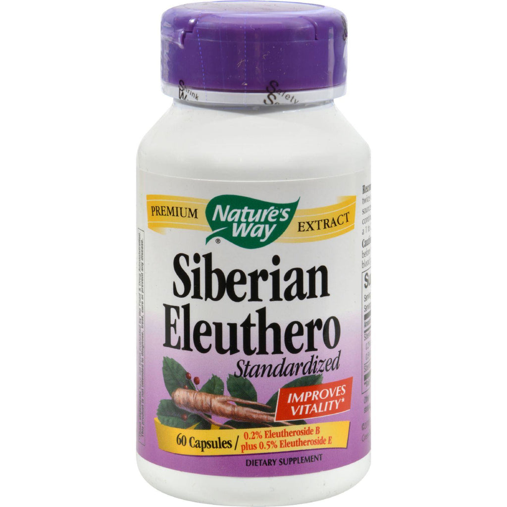 Nature's Way Siberian Eleuthero Standardized - 60 Capsules