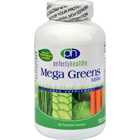Perfectly Healthy Mega Greens Plus Msm - 180 Capsules