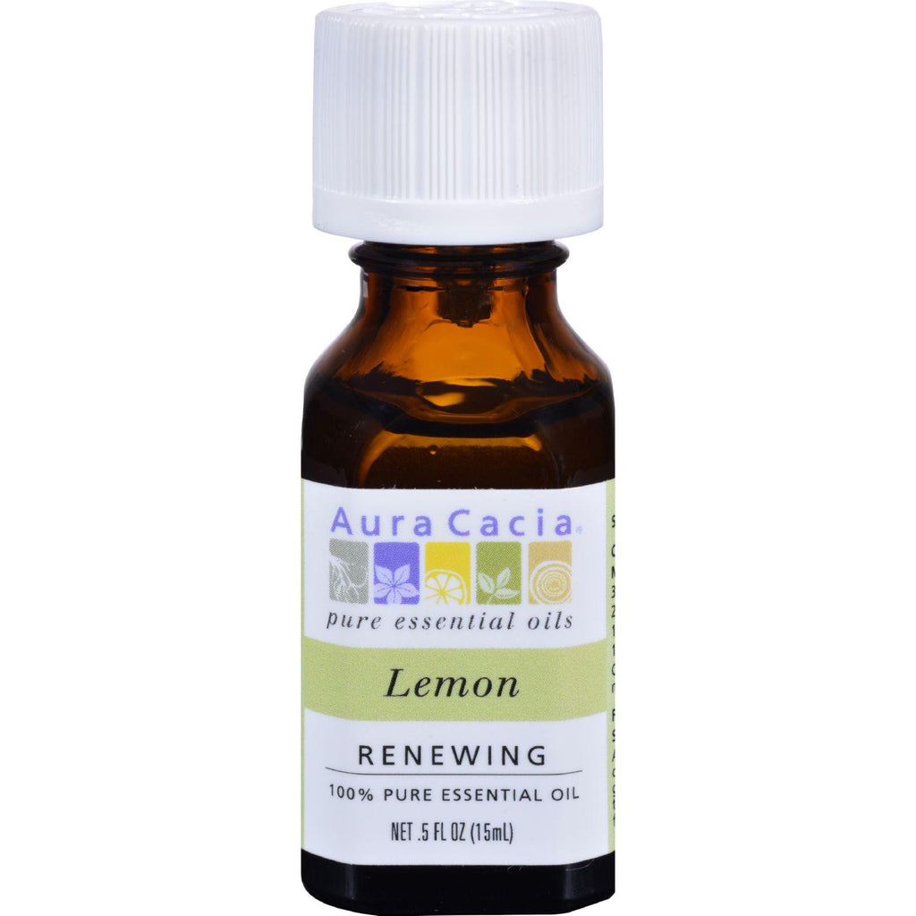 Aura Cacia Essential Oil - Lemon - 0.5 Fl Oz