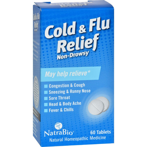 Natrabio Cold And Flu Relief Non-drowsy - 60 Tablets