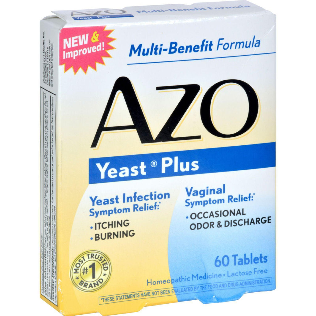 Azo Yeast Plus - 60 Tablets