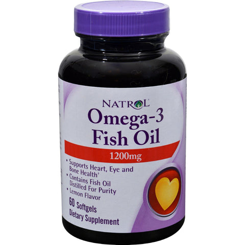 Natrol Omega-3 Fish Oil Lemon - 1200 Mg - 60 Softgels