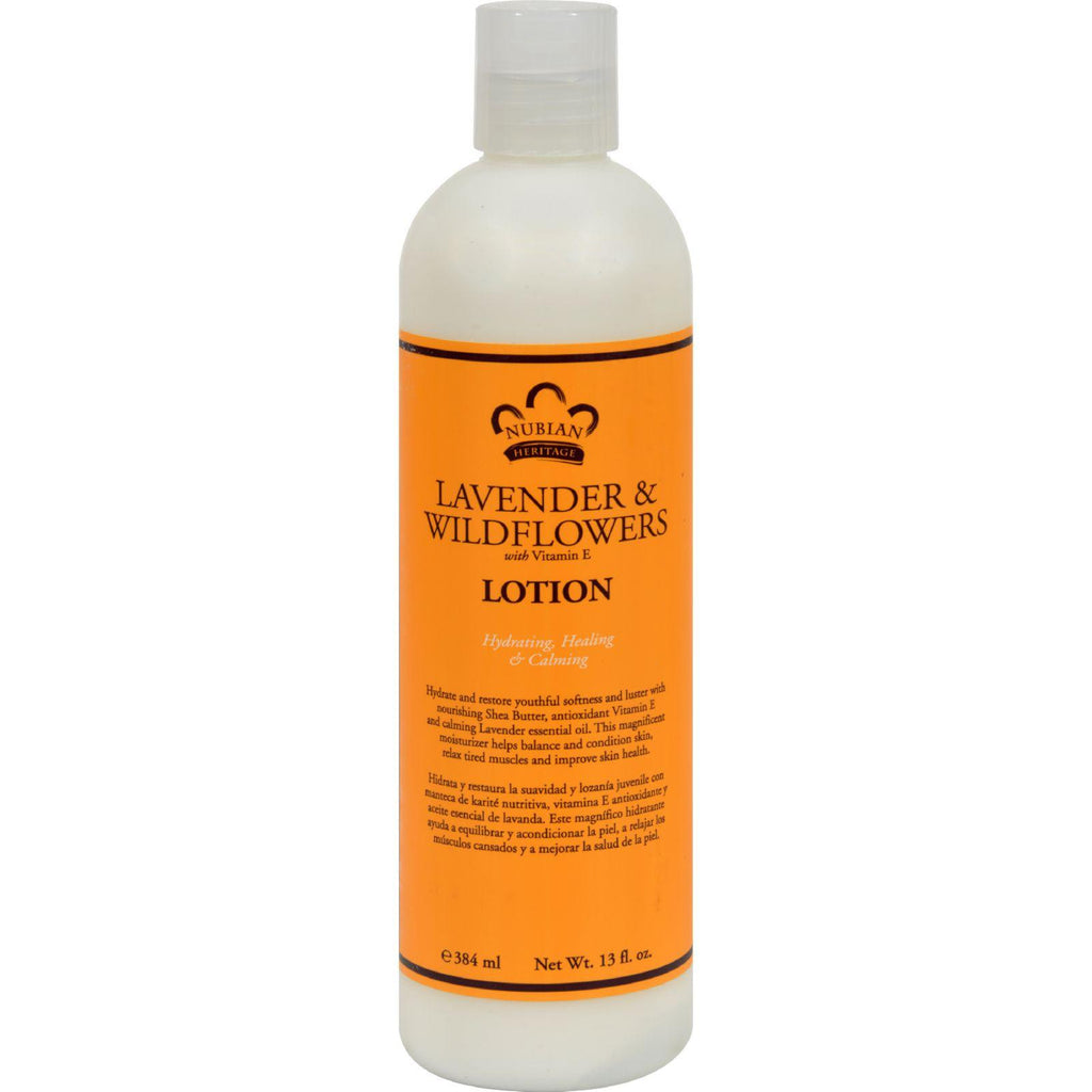 Nubian Heritage Lotion - Lavender And Wildflower - 13 Oz