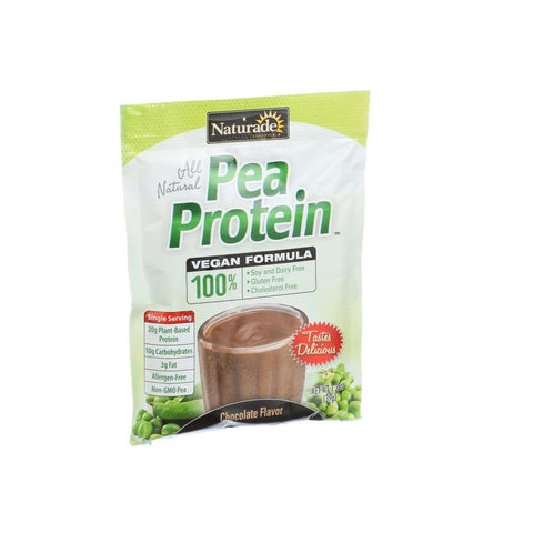 Naturade Pea Protein - Chocolate - Single Serving - 1.38 Oz - Case Of 12