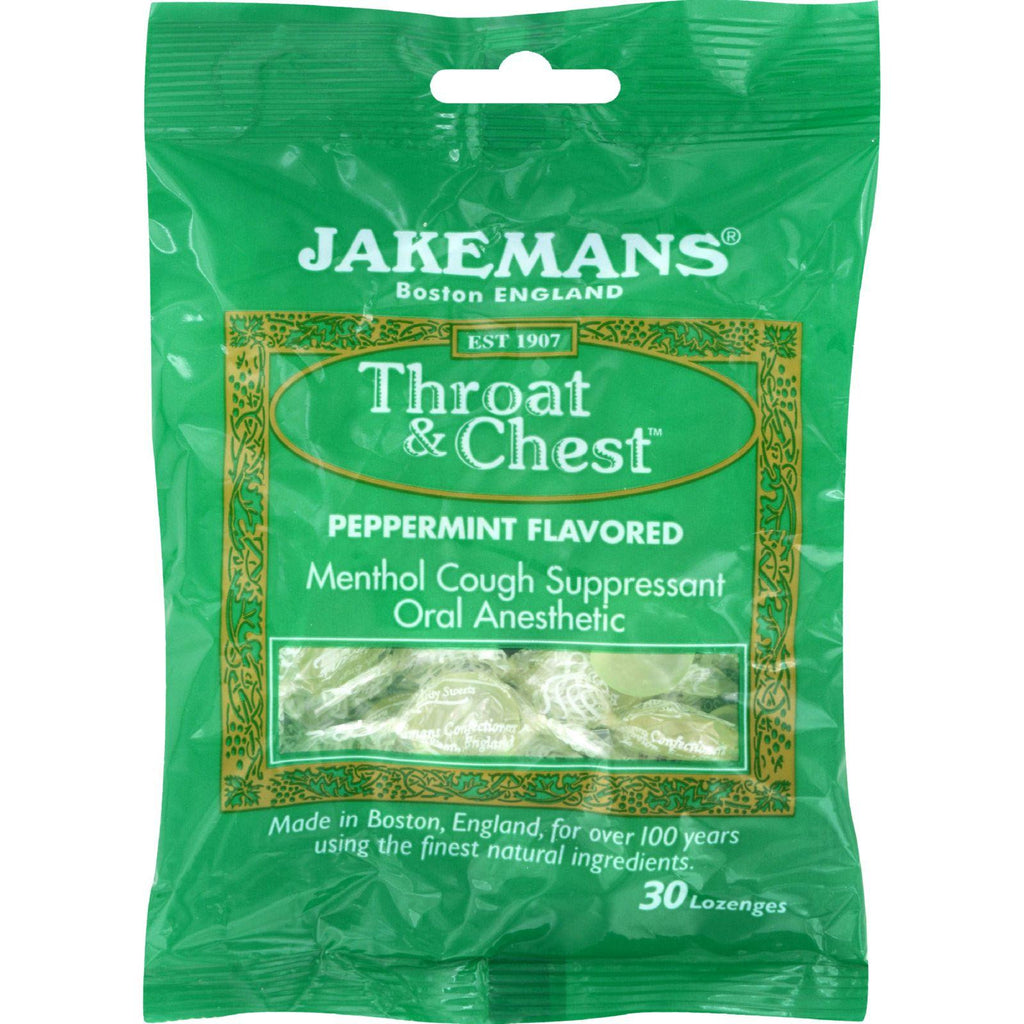 Jakemans Lozenge - Throat And Chest - Peppermint - 30 Count - 1 Case