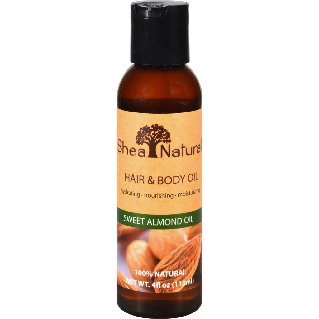 Shea Natural Hair And Body Oil - Sweet Almond Oil - 4 Oz