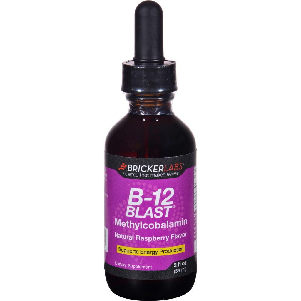 Bricker Labs B-12 Blast - Methylcobalamin - Natural Raspberry - 2 Oz