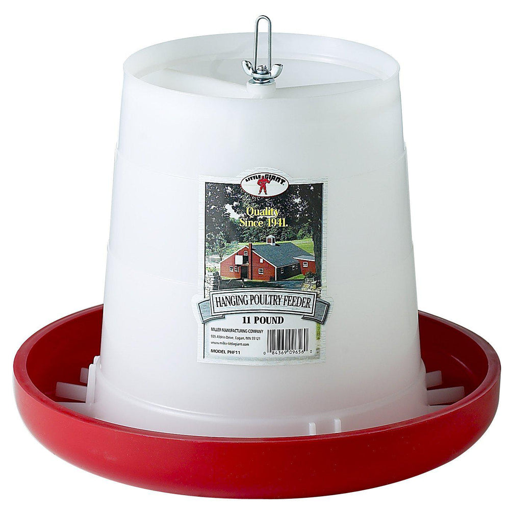Little Giant® 11 Pound Plastic Hanging Poultry Feeder - Critter Country Supply Ltd.