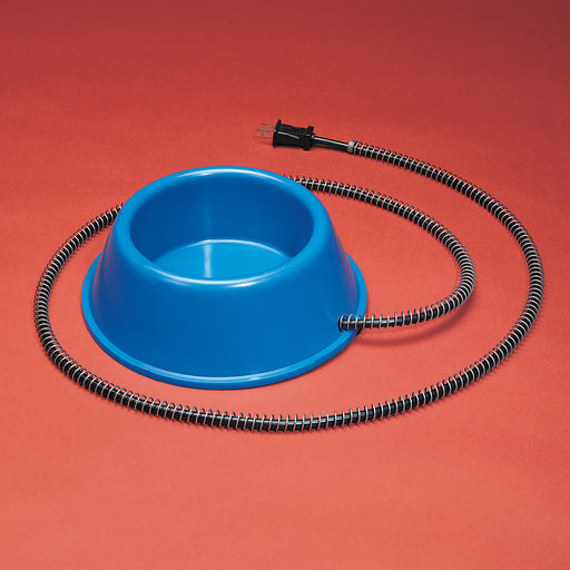 API 1 Quart Plastic Heated Pet Bowl - Critter Country Supply Ltd.