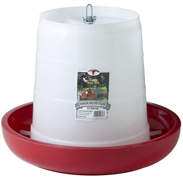 Little Giant® 22 Pound Plastic Hanging Poultry Feeder