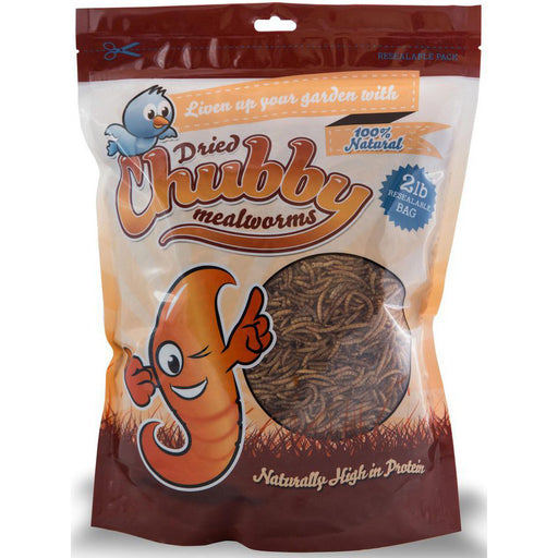 Chubby Dried Mealworms 2lb Resealable Bag