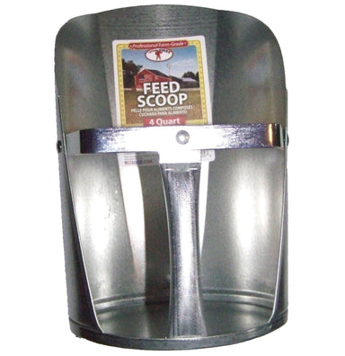 Little Giant® 4 Quart Galvanized Feed Scoop - Critter Country Supply Ltd.