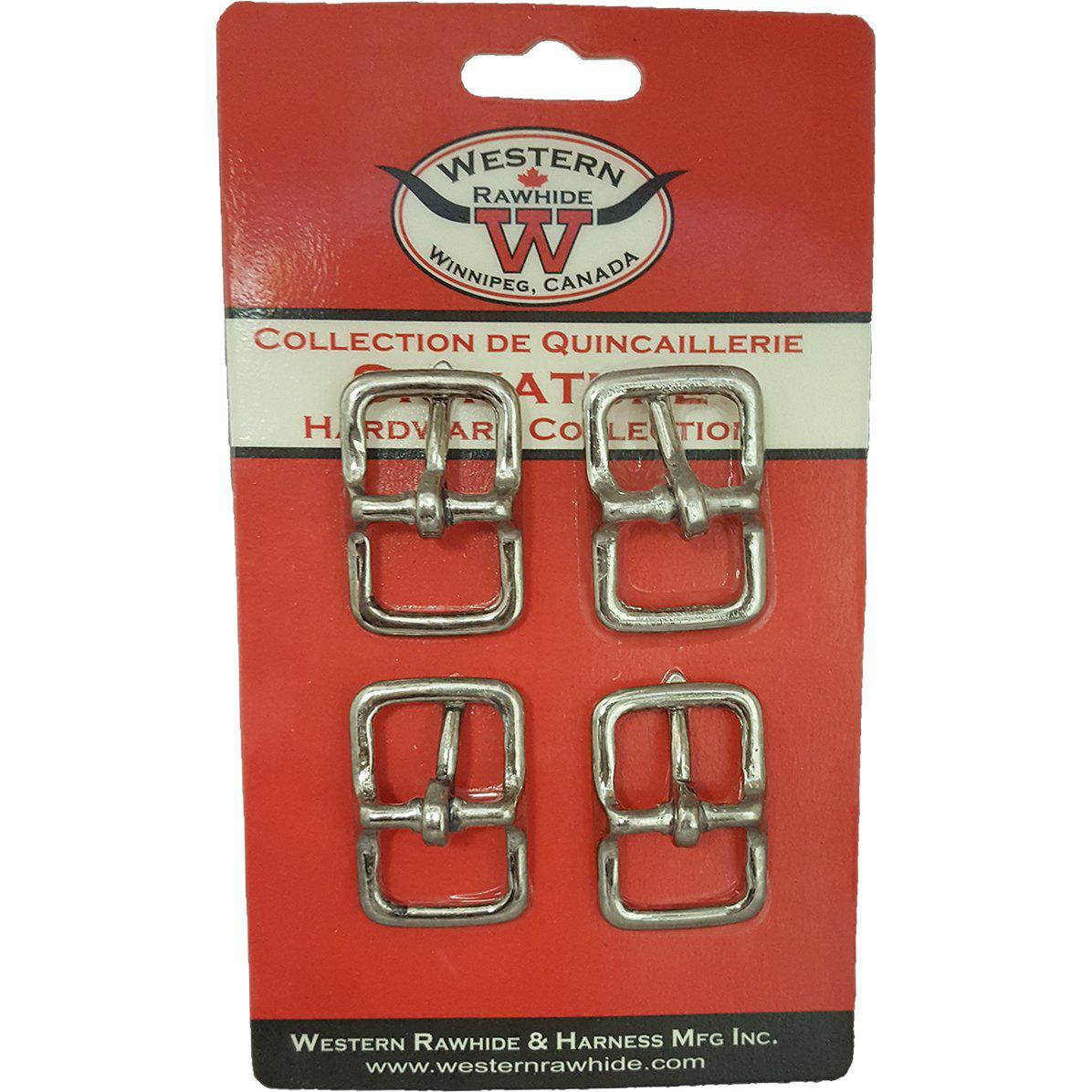 "Western Rawhide Buckles: 3/4"" Chrome Plated Bronze Bridle Buckle - Critter Country Supply Ltd."
