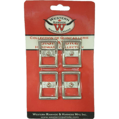 "Western Rawhide Buckles: 3/4"" Chrome Plated Bronze Conway Buckle - Critter Country Supply Ltd."
