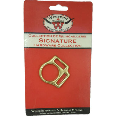 Western Rawhide Halter Squares: 2 Loop Solid Bronze Square - Critter Country Supply Ltd.