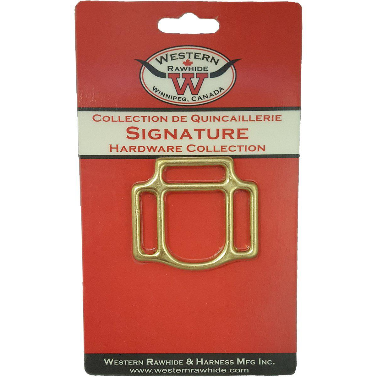 Western Rawhide Halter Squares: 3 Loop Solid Bronze Square - Critter Country Supply Ltd.