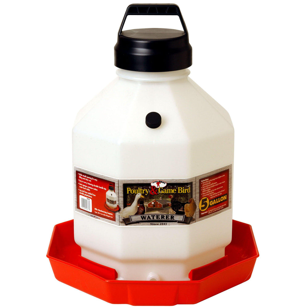 Little Giant® Plastic Poultry Waterer - 5 Gallon - Critter Country Supply Ltd.