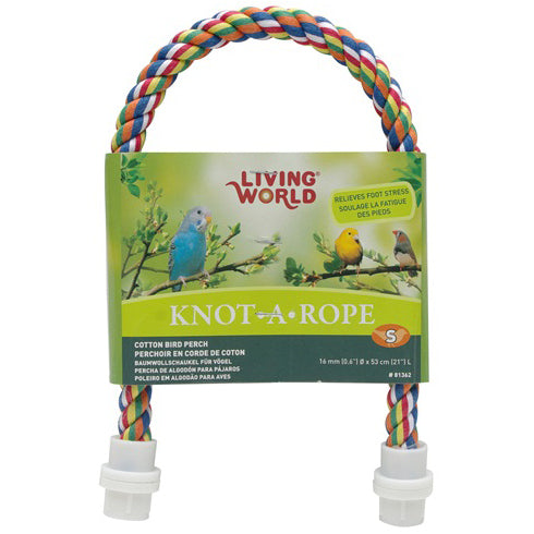 Living World® Multi-Coloured Cotton Bird Perch