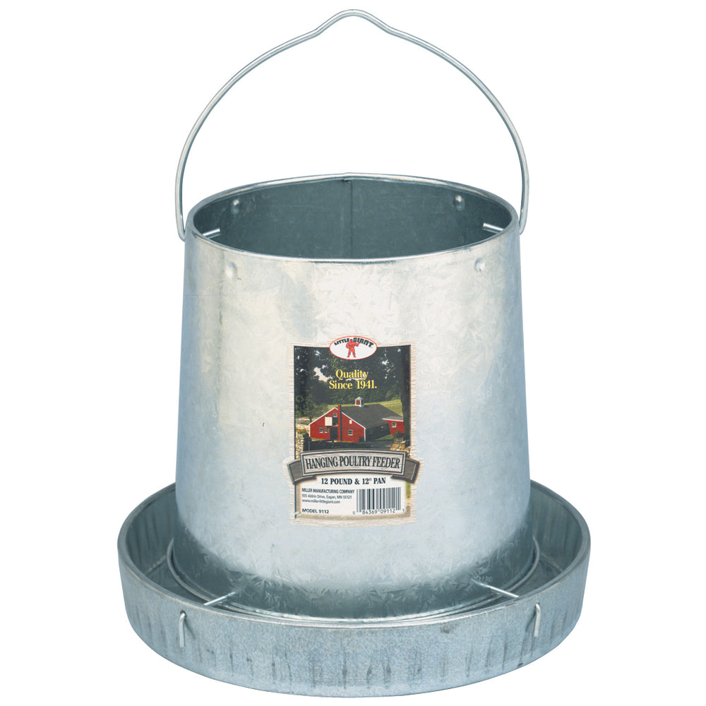 Little Giant® 12 Pound Hanging Metal Poultry Feeder