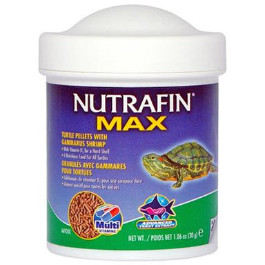 NUTRAFIN® MAX Turtle Pellets with Gammarus Shrimp 30g - Critter Country Supply Ltd.