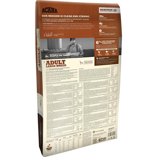 ACANA® HERITAGE Adult Large Breed - Critter Country Supply Ltd.