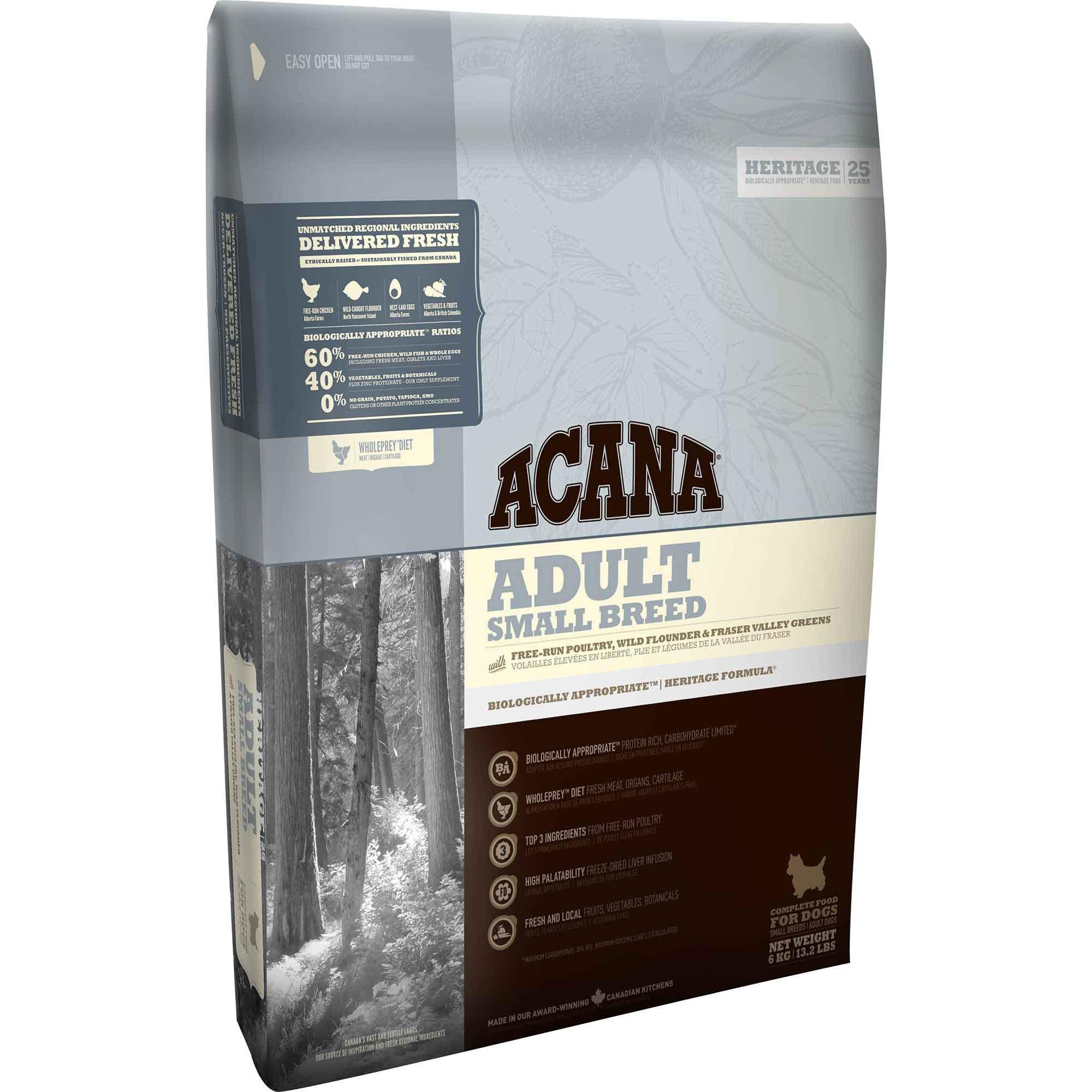 ACANA® HERITAGE Adult Small Breed - Critter Country Supply Ltd.