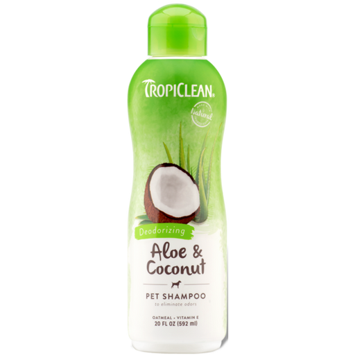 TropiClean® Aloe & Coconut (Deodorizing) Dog & Cat Shampoo 592ml - Critter Country Supply Ltd.