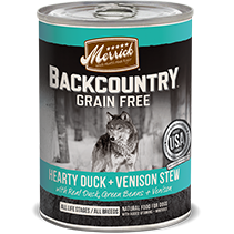 Merrick® Backcountry™ GRAIN FREE Canned Dog Food 12.7oz - Critter Country Supply Ltd.