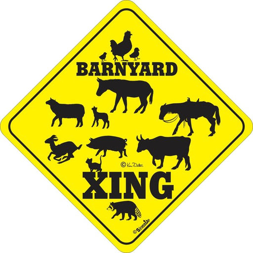 Xing Sign - Barnyard - Critter Country Supply Ltd.