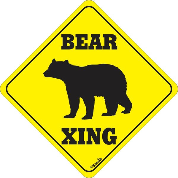 Xing Sign - Bear - Critter Country Supply Ltd.
