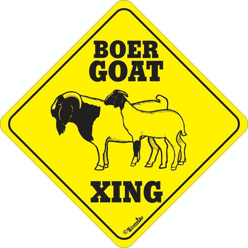 Xing Sign - Boer Goat - Critter Country Supply Ltd.